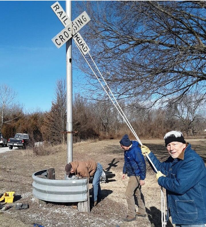 Salvaging RR Signs & Equipment for fund raising for Ruby Jack Trail, Carthage, MO