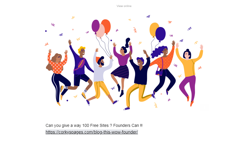 Can you give a way 100 Free Sites ? ~ Founders Can !!