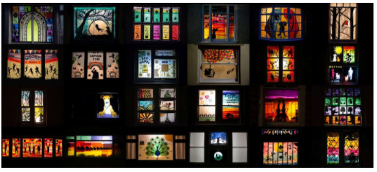 Villagers Create Amazing Nighttime Window Displays to Cheer Up Neighbors – 500 So Far