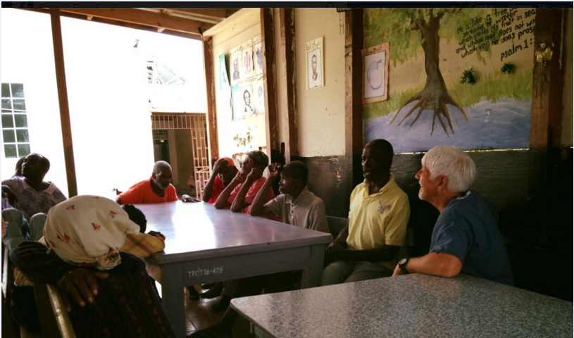 Visiting some folks at infirmary on mission trip to Falmouth, Jamaica