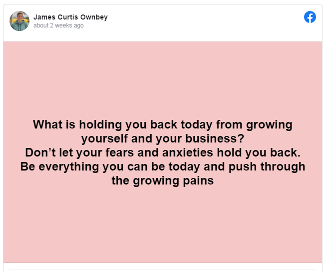 THANKS YOU JAMES! LOVE YOUR POSTS! ENCOURAGED NOW!