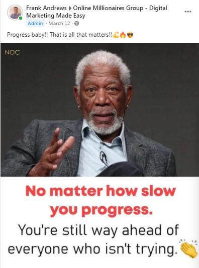Frank reminds us,,,,,,, progress....