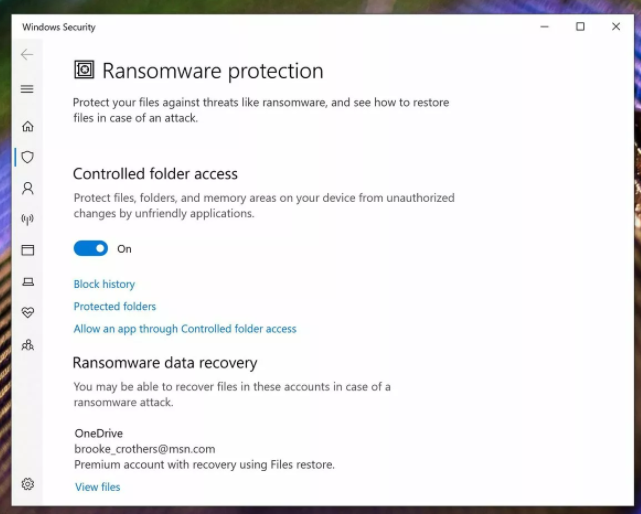 HOW TO PROTECT WINDOWS 10 FROM RANSOMWARE