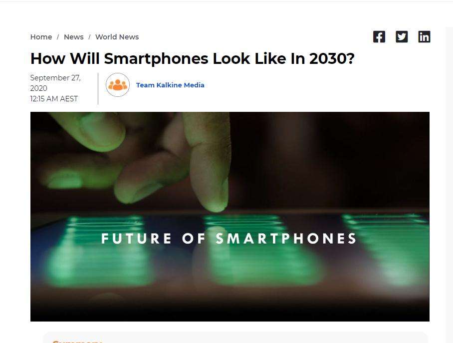 How Will Smartphones Look Like In 2030?
