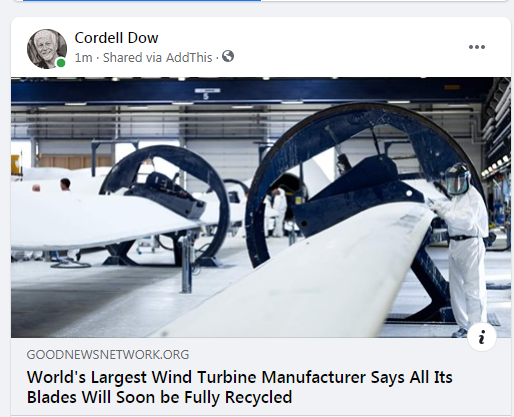 World's Largest Wind Turbine Manufacturer Says All Its Blades Will Soon be Fully Recycled
