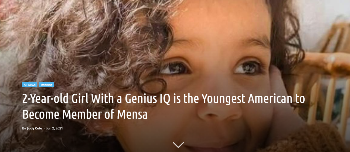 2-Year-old Girl With a Genius IQ is the Youngest ......