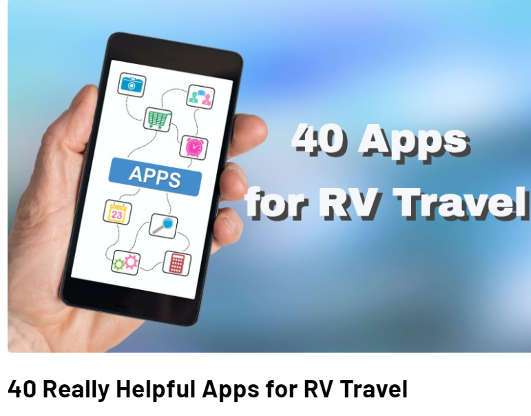 40 Really Helpful Apps for RV Travel....