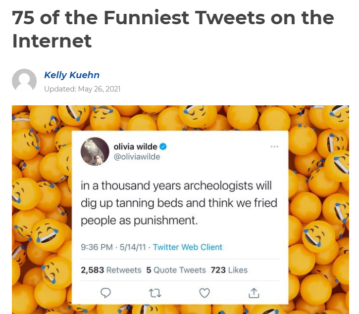 75 of the Funniest Tweets on the Internet