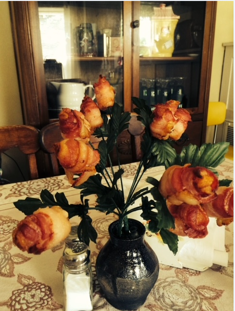 Bacon Roses ? Means love, right ?