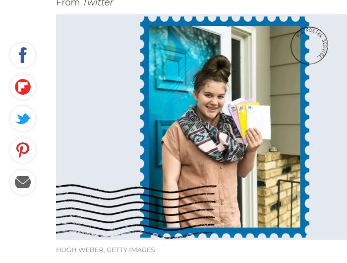 A Girl Wrote a Simple Thank You Note to Her Postman and Got Hundreds of Responses