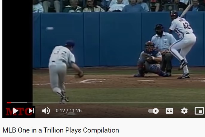 Love baseball ? watch MLB One in a Trillion Plays