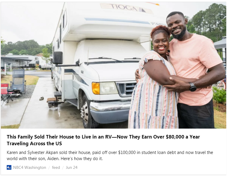 Over $80,000 a Year from their blog...