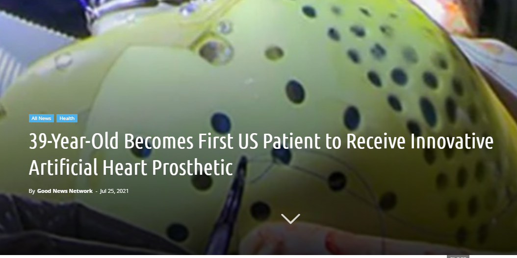 Will we live forever? 39-Year-Old Becomes First US Patient to Receive Innovative Artificial Heart Prosthetic