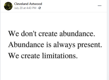 Cleveland Astwood, Thanks for this ! Made me stop and think