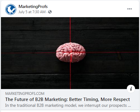 Some solid advice from MarketingProfs