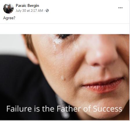 Agree ? I do, thanks Paraic Bergin