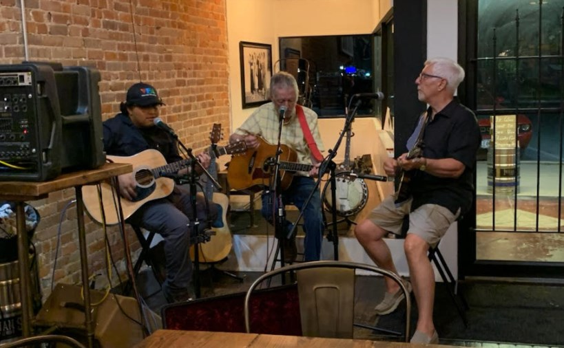 corky with Just jake trio on indian springs brewery, Neosho Mo.