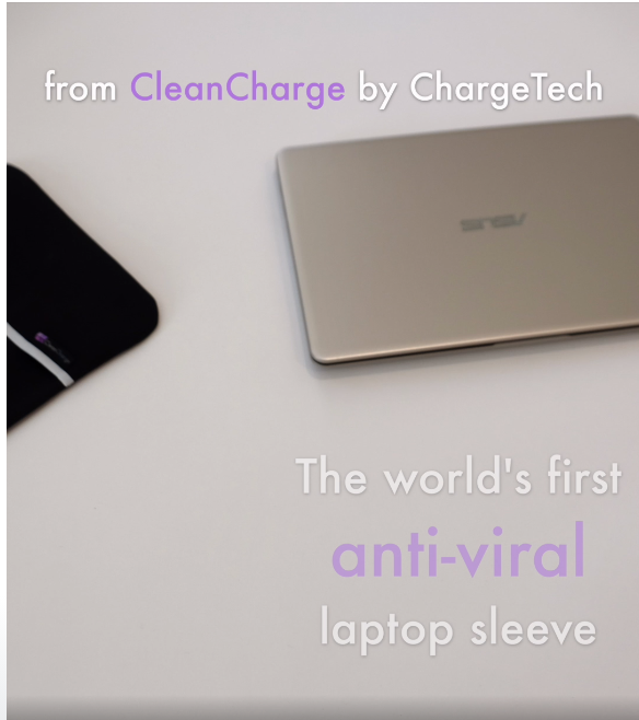 CleanCharge Laptop Sleeve with ViralOff