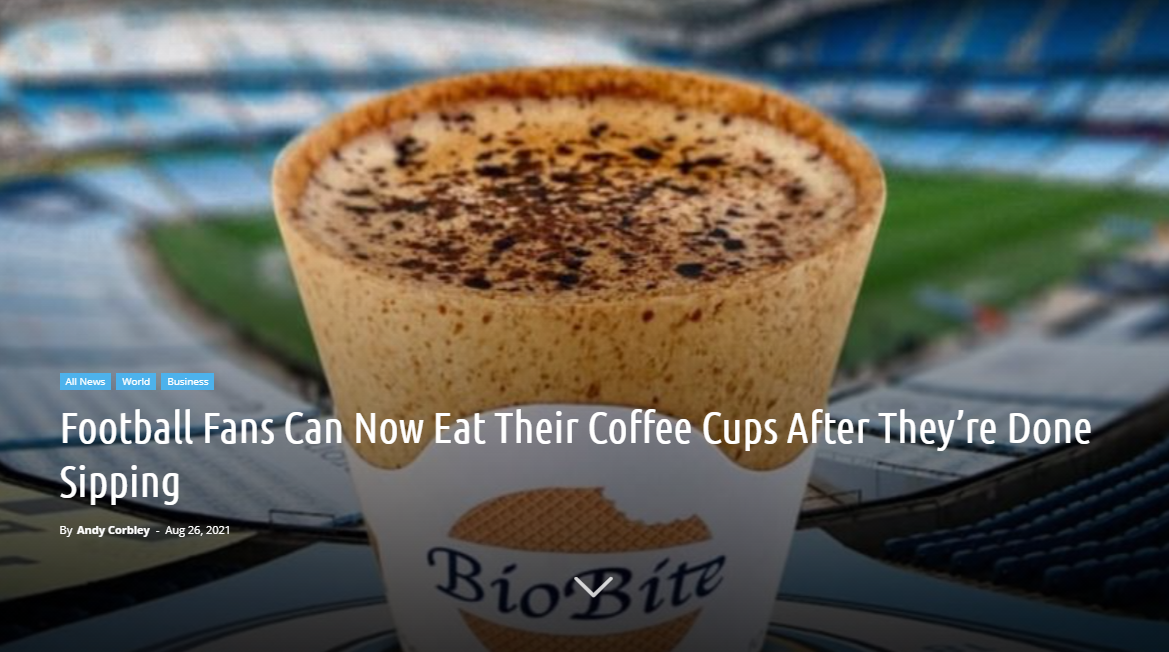 Football Fans Can Now Eat Their Coffee Cups After They're Done Sipping