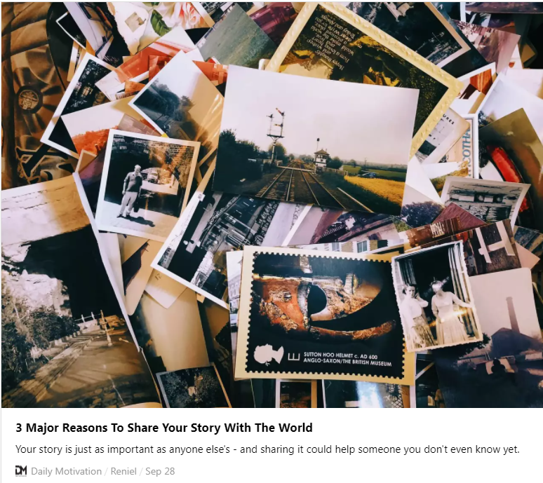 3 REASONS TO SHARE YOUR STORY WITH THE WORLD